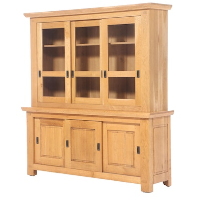 Williams-Sonoma Rustic Style Chestnut China Cabinet