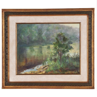 Mary Sergent Impressionistic Landscape Oil Painting