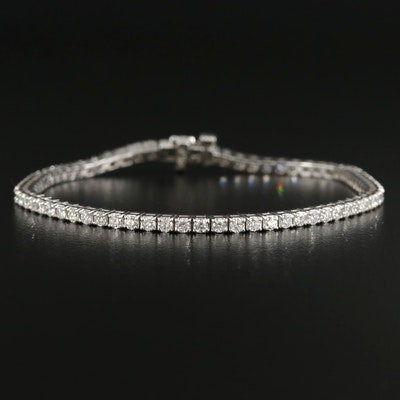 14K White Gold 2.98 CTW Diamond Line Bracelet