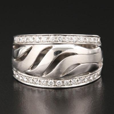18K White Gold Diamond Openwork Ring