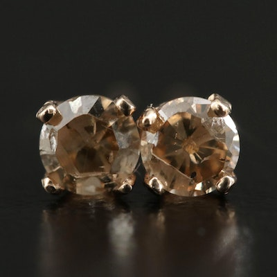 14K Yellow Gold 0.29 CTW Diamond Stud Earrings