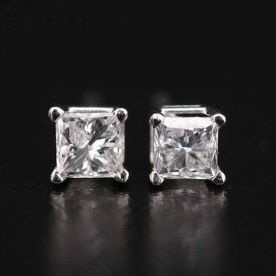 14K White Gold 0.44 CTW Diamond Stud Earrings