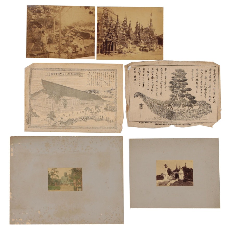 Japanese Woodblocks and Silver Gelatin Photographs of Japan and Southeast Asia
