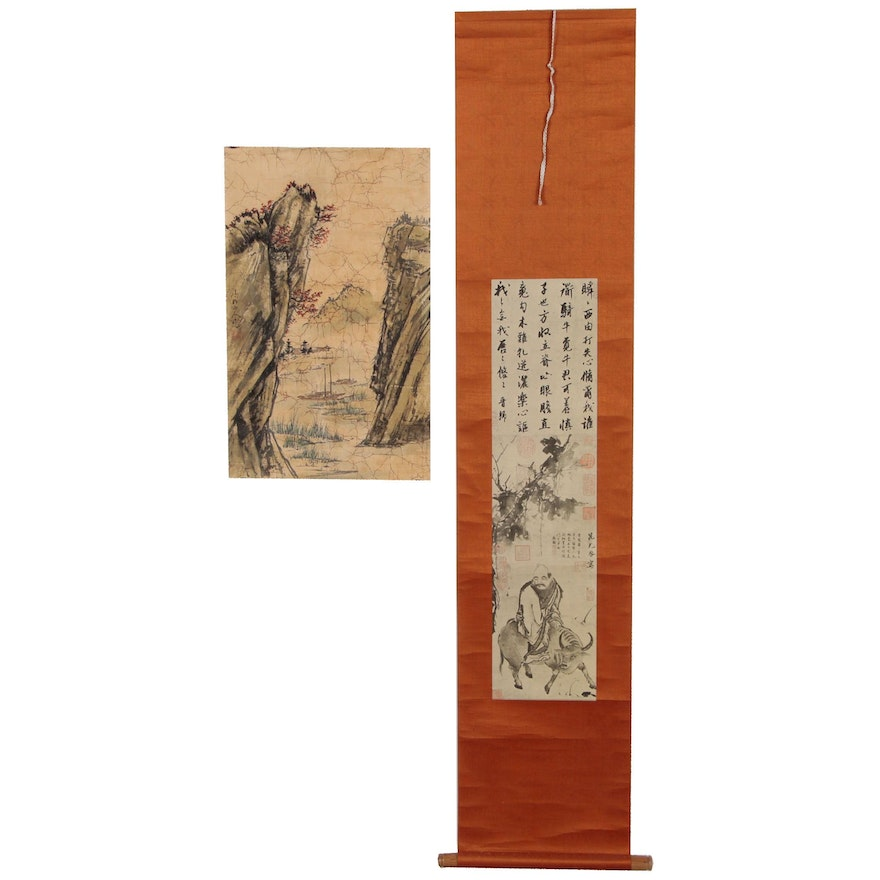 Chinese Reproduction Landscape and Figure Prints