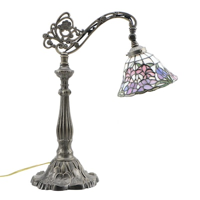 Dale Tiffany Floral Art Glass Accent Lamp