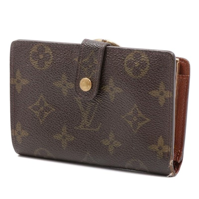 Louis Vuitton Monogram Canvas Compact Clutch Snap Wallet