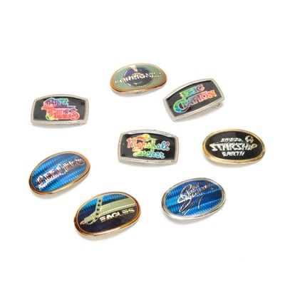 Band Belt Buckles Featuring Bee Gees, Rod Stewart, Foreigner and More, 1970s