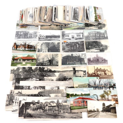 Tourism and Landmark Postcards Featuring Marshall, Michigan
