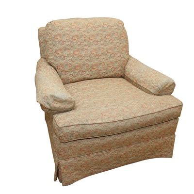 Wesley Hall Upholstered Armchair with Tailored Skirt
