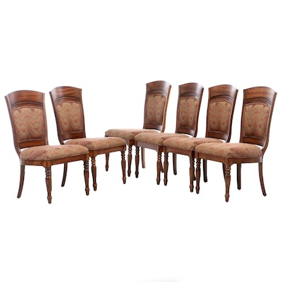 Six Harden Dining Chairs in Flamestitch Upholstery