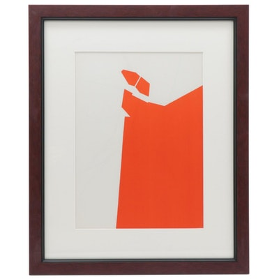 """Pablo Palazuelo Lithograph for """"Derrière le Miroir,"""" 1970"""