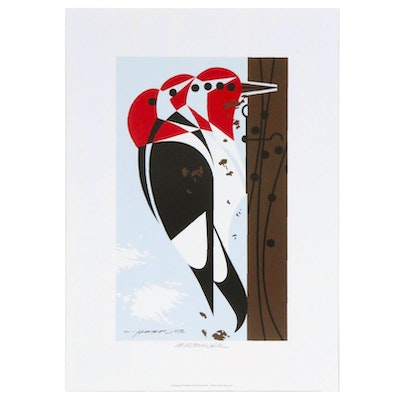 "Offset Lithograph after Charley Harper ""Headbanger"""
