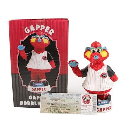 Gapper Cincinnati Reds Bobble Belly Mascot Doll in Original Packaging