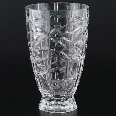 """Shannon Crystal by Godinger """"Bamboo"""" Flower Vase, 2006–2016"""