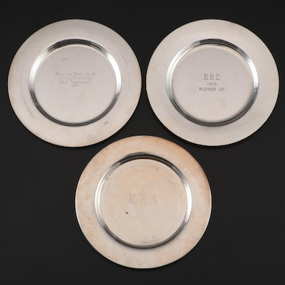 Baldwin & Miller Sterling and Wm A Rogers Silver Plate Bread and Butter Plates