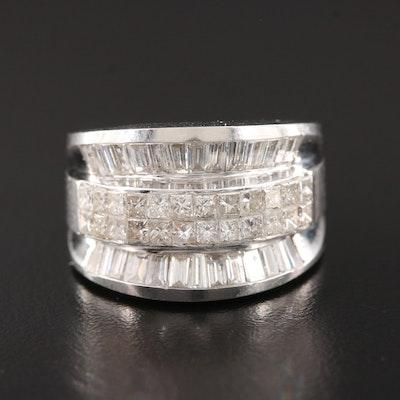 14K White Gold 2.75 CTW Diamond Ring