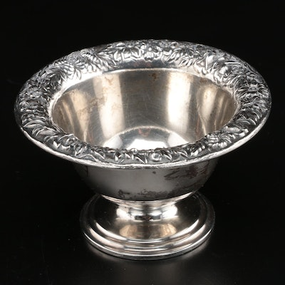 S.Kirk & Son Repoussé Hand Chased Sterling Silver Bowl and Toothpick Holders