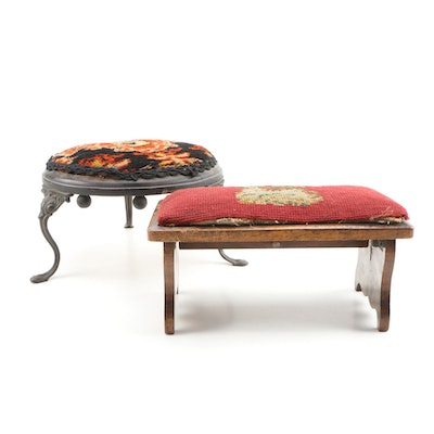 Victorian Style Upholstered Footrests