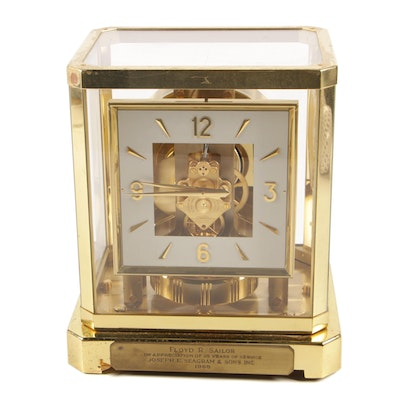 """LeCoultre """"Atmos"""" Perpetual Motion Desk Clock, Mid-20th Century"""