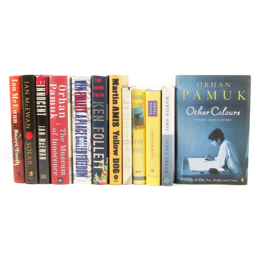 """First Edition Fiction and Nonfiction Including Signed """"Other Colours"""" by Pamuk"""