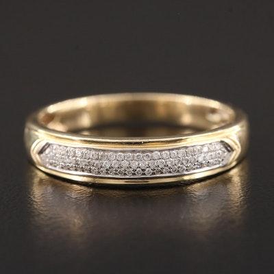 14K Yellow Gold Pavé Diamond Ring