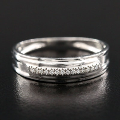 Shy Creations 14K White Gold Diamond Ring