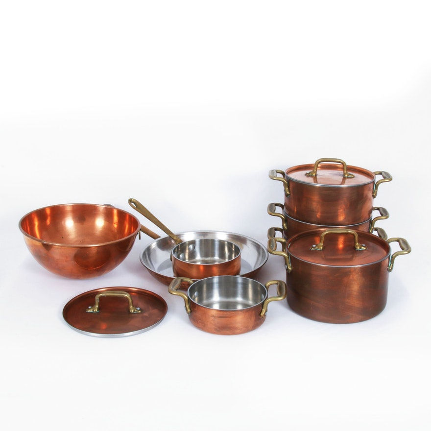 Culinox Copper Frying Pan with Other Copper Cookware