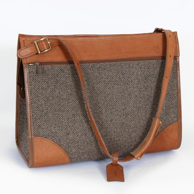 Hartmann Leather and Tweed Travel Bag