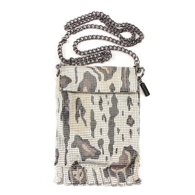 Whiting & Davis Gattopardo Enameled Metal Mesh Crossbody Bag