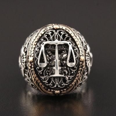 Sterling Silver Motif Ring