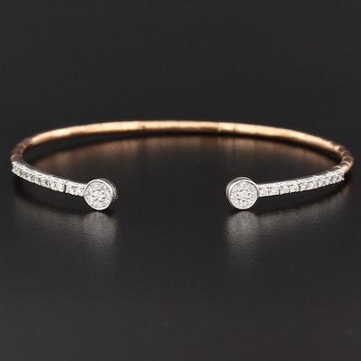 18K Gold Diamond Flex Bracelet