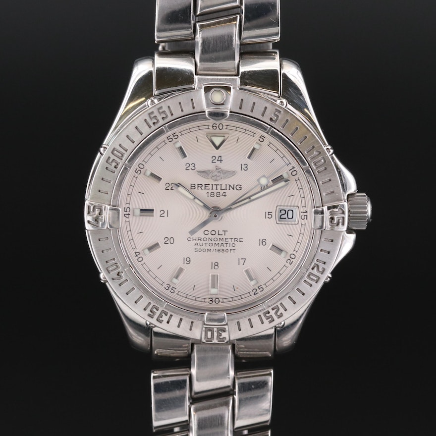 Breitling Colt Automatic Stainless Steel Wristwatch