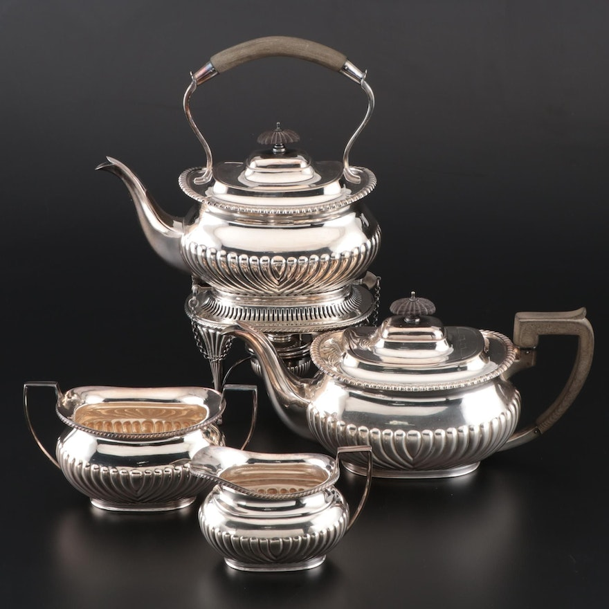 English Silver Plate Coffee Service Pieces