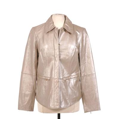 Bradley Bayou Pearlescent Leather Jacket