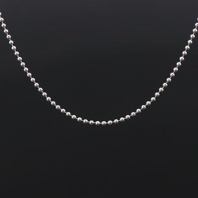 Platinum Bead Chain Necklace
