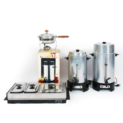 Stainless Steel Coffee Makers, Food Warmer and Chaffing Dish
