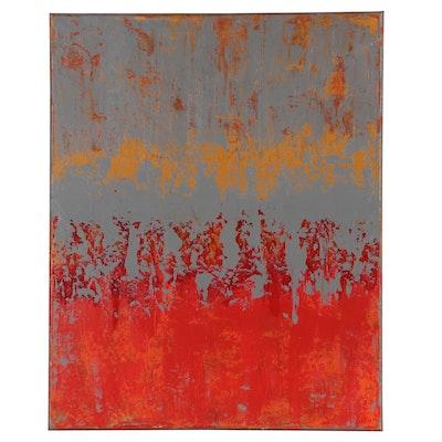 "Sanna Abstract Acrylic Painting ""Heating Things Up"""