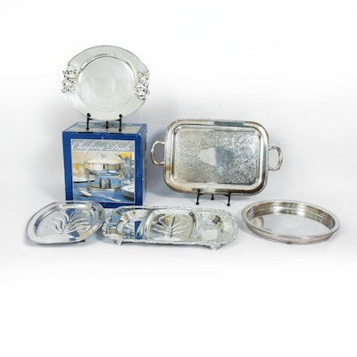 Wm Rogers and Other Silver Plate and Stainless Steel Serveware