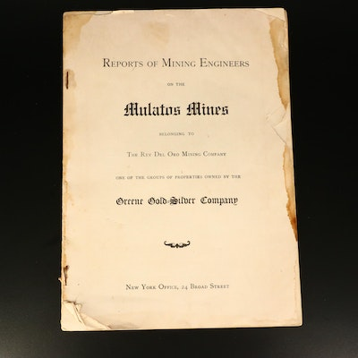 Greene Gold-Silver Company 1905 Report of the Mulatos Mines