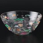 Signed Daniel Gaumer Decorative Blown Art Glass Bowl, 1994