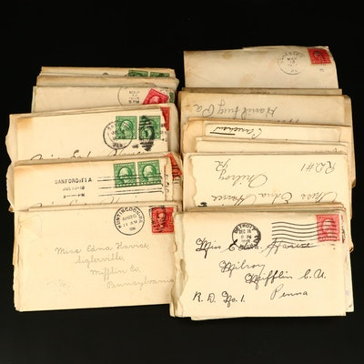 Forty-One Antique U.S. Postal Covers, 1900 to 1919
