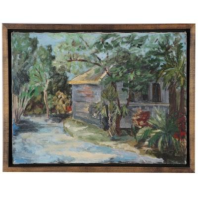"""Judy Sena Acrylic Painting """"Tranquility"""""""