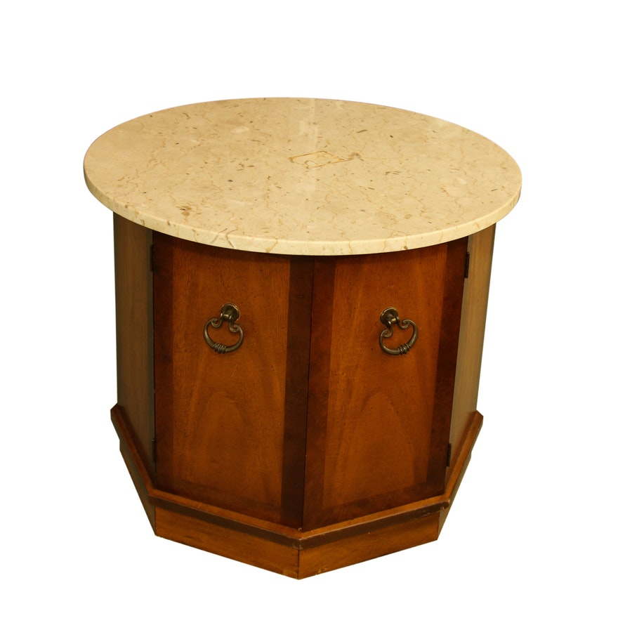Basic-Witz Marble Top Side Table, Mid-20th Century