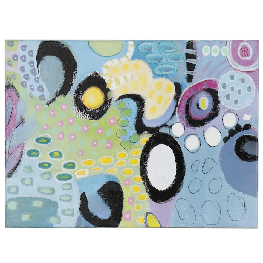 Lee Hafer Abstract Mixed Media Painting