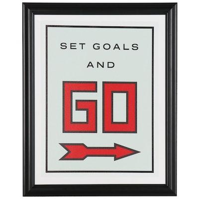 """Pop Art Giclée """"Set Goals and GO"""""""