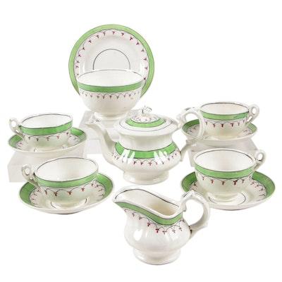 English Ceramic Miniature Tea Service Pieces, 19th Century