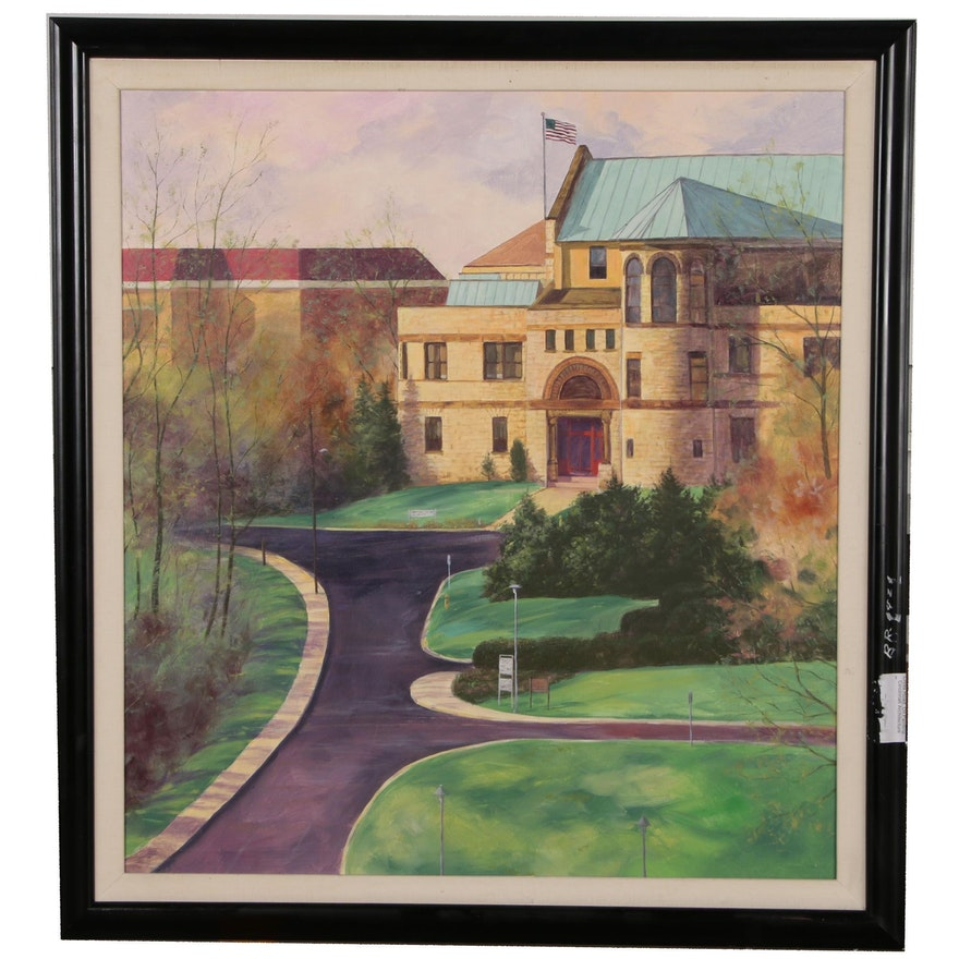 Architectural Oil Painting of Cincinnati Art Academy