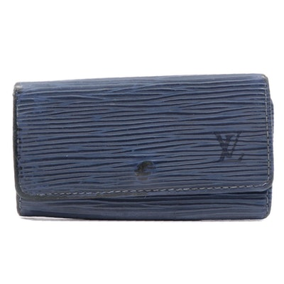 Louis Vuitton Blue Epi Leather Key Wallet