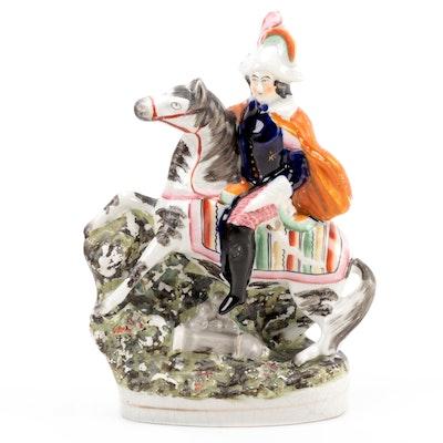 """Staffordshire """"Napoleon"""" Equestrian Figurine, Victorian"""