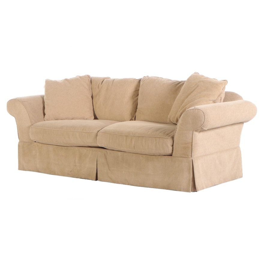 Southern Furniture Co. Upholstered Skirted Sofa for Arhaus